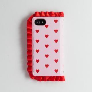 【iPhone8/7/6s/6ケース】青木美沙子オリジナル ハートフリルスマホケース iPhone 8/7/6s/6_3
