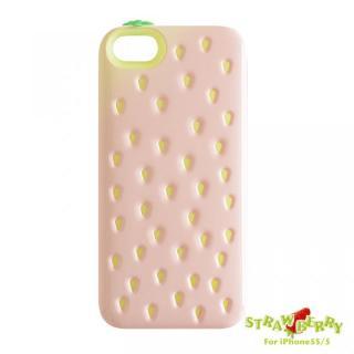 poppin-strawberry ICカード収納可能 iPhone SE/5s/5ケース / ピンク