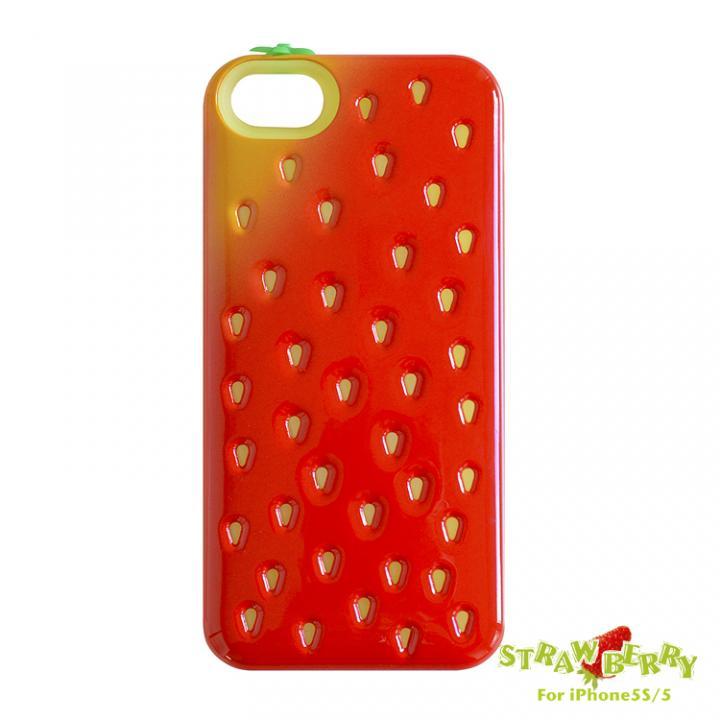 poppin-strawberry ICカード収納可能 iPhone SE/5s/5ケース / レッド