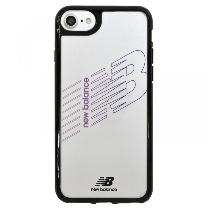 iPhone8/7/6s/6 ケース New Balance(ニューバランス) TPU+PCハイブリッド クリアケース ブラック iPhone SE 第2世代/8/7/6s/6_0