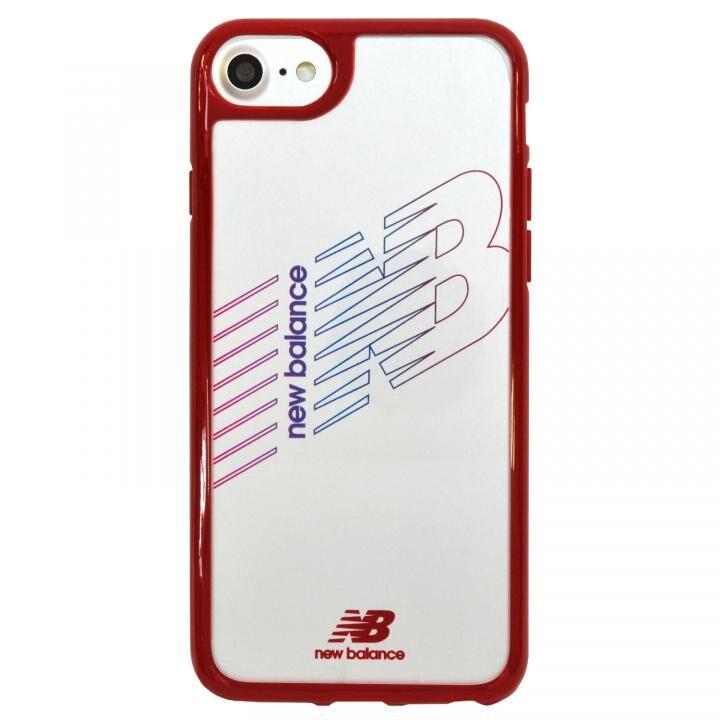 iPhone8/7/6s/6 ケース New Balance(ニューバランス) TPU+PCハイブリッド クリアケース レッド iPhone SE 第2世代/8/7/6s/6_0