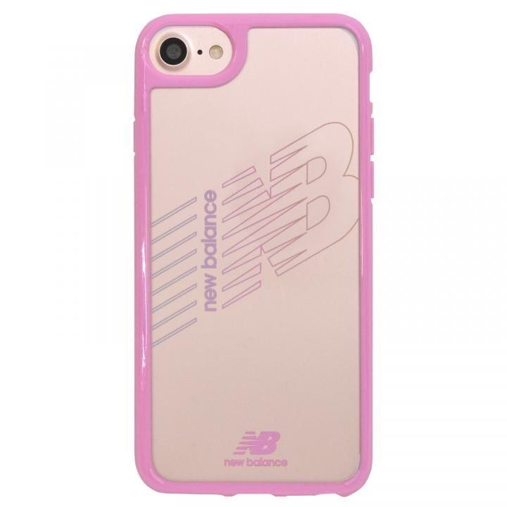 iPhone8/7/6s/6 ケース New Balance(ニューバランス) TPU+PCハイブリッド クリアケース ピンク iPhone SE 第2世代/8/7/6s/6_0