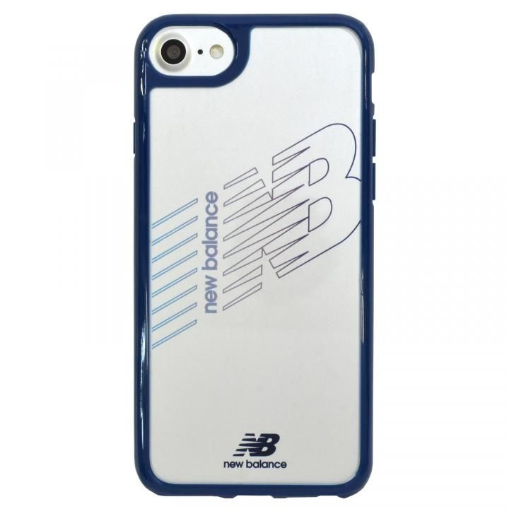 iPhone8/7/6s/6 ケース New Balance(ニューバランス) TPU+PCハイブリッド クリアケース ネイビー iPhone 8/7/6s/6_0