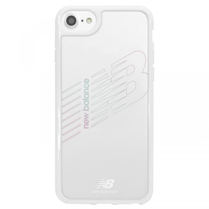 iPhone8/7/6s/6 ケース New Balance(ニューバランス) TPU+PCハイブリッド クリアケース ホワイト iPhone SE 第2世代/8/7/6s/6_0