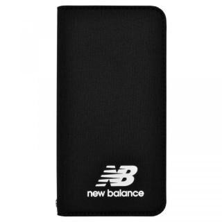 iPhone SE 第2世代 ケース New Balance(ニューバランス) シンプル手帳ケース ブラック iPhone SE 第2世代/8/7/6s/6【4月中旬】