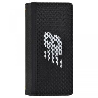 【iPhone8/7/6s/6ケース】New Balance(ニューバランス) メッシュ手帳ケース ブラック iPhone 8/7/6s/6【3月上旬】