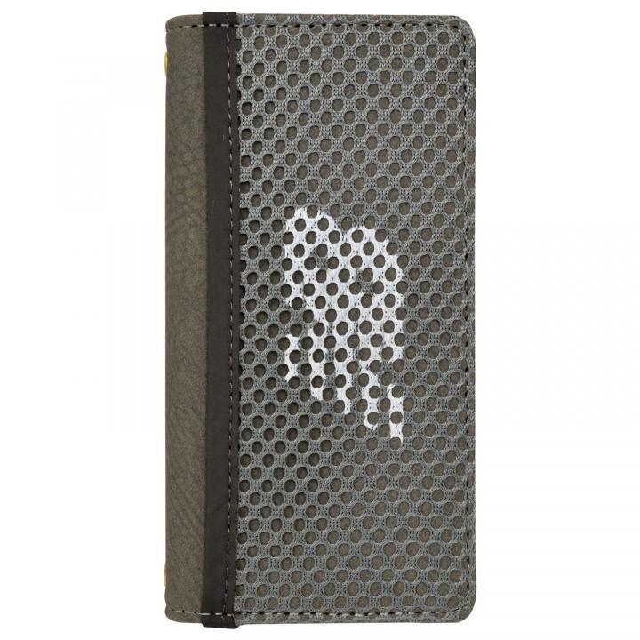 iPhone8/7/6s/6 ケース New Balance(ニューバランス) メッシュ手帳ケース グレー iPhone SE 第2世代/8/7/6s/6_0