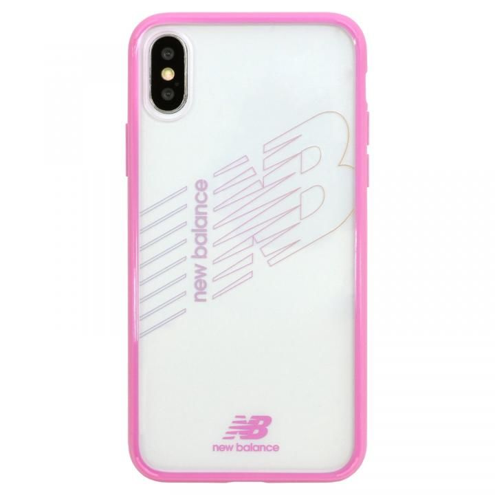 iPhone XS/X ケース New Balance(ニューバランス) TPU+PCハイブリッド クリアケース ピンク iPhone XS/X_0