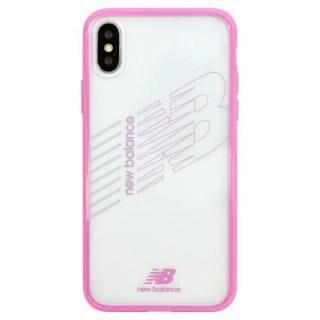 【iPhone XS/Xケース】New Balance(ニューバランス) TPU+PCハイブリッド クリアケース ピンク iPhone XS/X