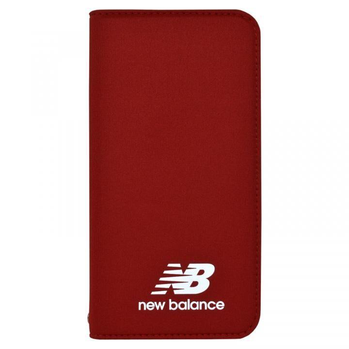 iPhone XS/X ケース New Balance(ニューバランス) シンプル手帳ケース レッド iPhone XS/X_0