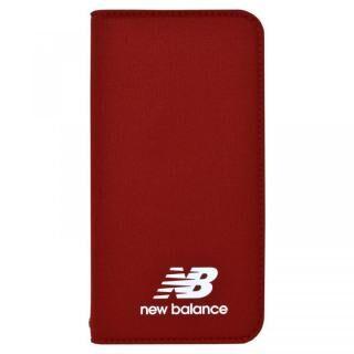 iPhone XS/X ケース New Balance(ニューバランス) シンプル手帳ケース レッド iPhone XS/X