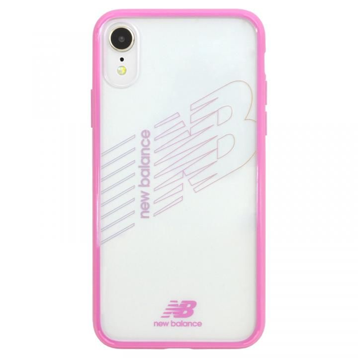 iPhone XR ケース New Balance(ニューバランス) TPU+PCハイブリッド クリアケース ピンク iPhone XR_0