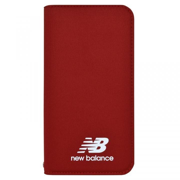 iPhone XR ケース New Balance(ニューバランス) シンプル手帳ケース レッド iPhone XR【4月上旬】_0