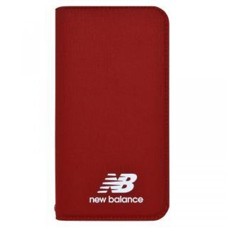 iPhone XR ケース New Balance(ニューバランス) シンプル手帳ケース レッド iPhone XR