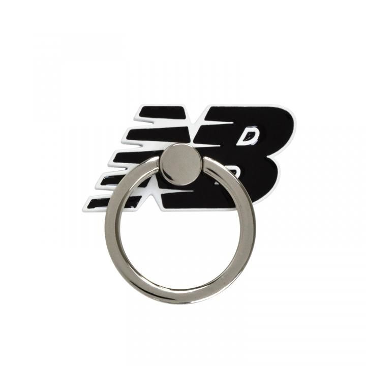 New Balance(ニューバランス)  スマホリング 落下防止 フライングロゴ/ブラック_0