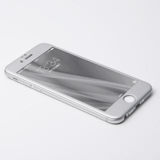 iPhone6s Plus/6 Plus フィルム Deff W-FACE 強化ガラス&アルミ液晶保護 シルバー iPhone 6s Plus/6 Plus