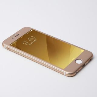Deff W-FACE 強化ガラス&アルミ液晶保護 ゴールド iPhone 6 Plus