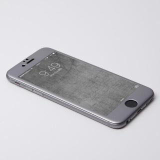 iPhone6s Plus/6 Plus フィルム Deff W-FACE 強化ガラス&アルミ液晶保護 グレイ iPhone 6s Plus/6 Plus