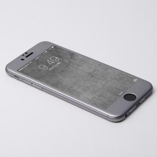 iPhone6s/6 フィルム Deff W-FACE 強化ガラス&アルミ液晶保護 グレイ iPhone 6s/6