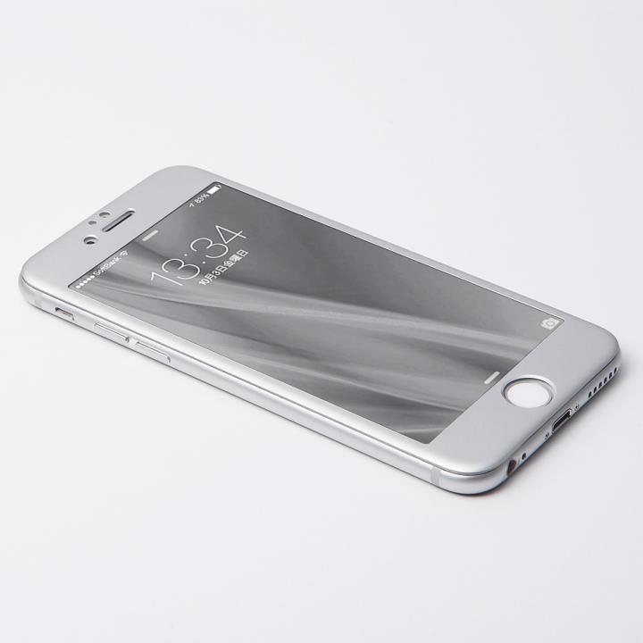 [2017夏フェス特価]Deff W-FACE 強化ガラス&アルミ液晶保護 シルバー iPhone 6s/6