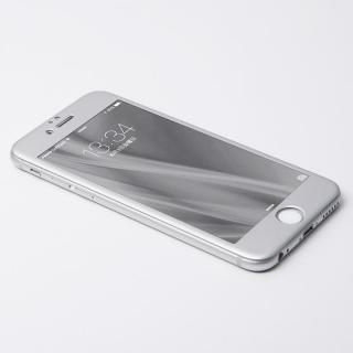 [8月特価]Deff W-FACE 強化ガラス&アルミ液晶保護 シルバー iPhone 6s/6