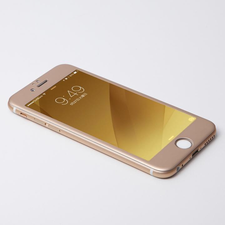 Deff W-FACE 強化ガラス&アルミ液晶保護 ゴールド iPhone 6