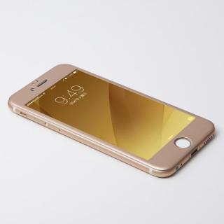 iPhone6s/6 フィルム Deff W-FACE 強化ガラス&アルミ液晶保護 ゴールド iPhone 6s/6