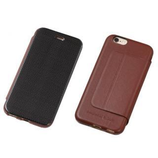 Deff カーボンファイバー&天然レザー手帳型ケース ブラウン  iPhone 6s/6