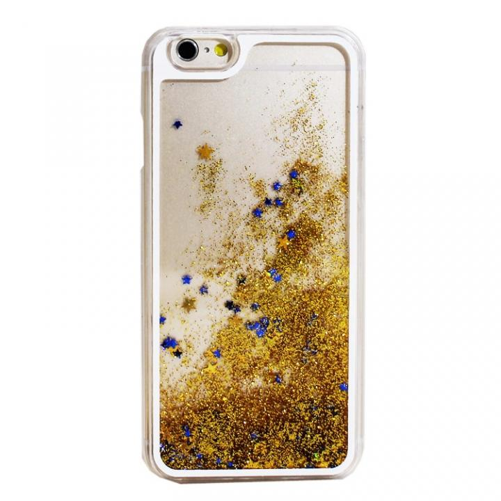 【iPhone6ケース】ウォーターラメケース ゴールド iPhone 6_0