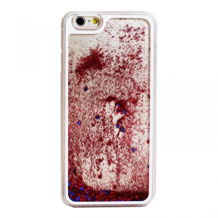 【iPhone6ケース】ウォーターラメケース レッド iPhone 6_0