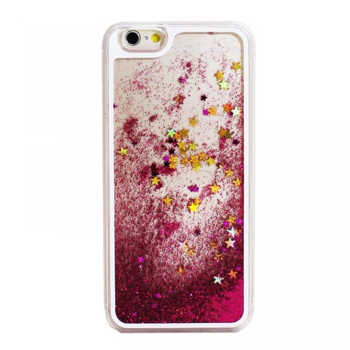 【iPhone6ケース】ウォーターラメケース ピンク iPhone 6_0