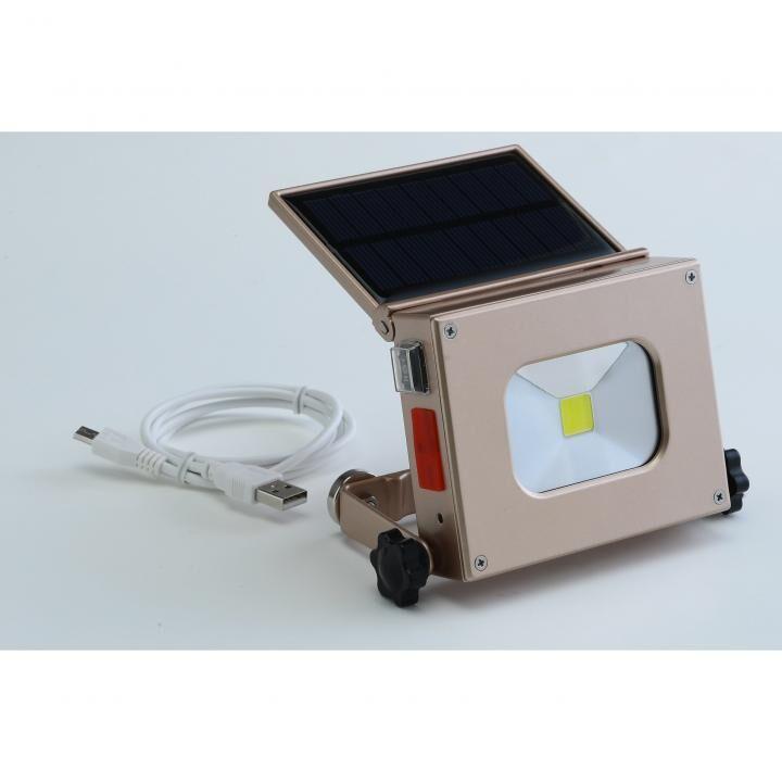 ソーラーパワーLEDライト ゴールド_0