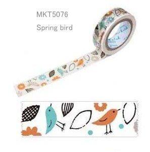マスキングテープ  15mm×15m Spring bird_0