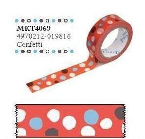 マスキングテープ  15mm×15m Confetti