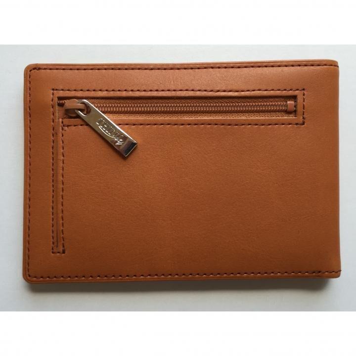 カードをたくさん入れても薄い財布(小銭入れ付き)BS04 キャメル_0