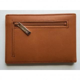 カードをたくさん入れても薄い財布(小銭入れ付き)BS04 キャメル【3月上旬】