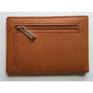 カードをたくさん入れても薄い財布(小銭入れ付き)BS04 キャメル