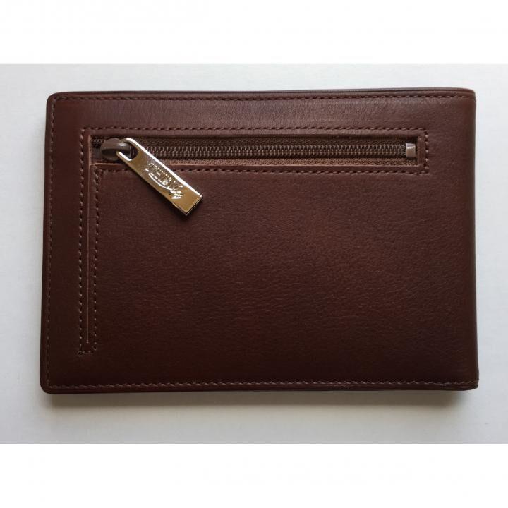 カードをたくさん入れても薄い財布(小銭入れ付き)BS04 チョコ_0