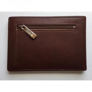 カードをたくさん入れても薄い財布(小銭入れ付き)BS04 チョコ