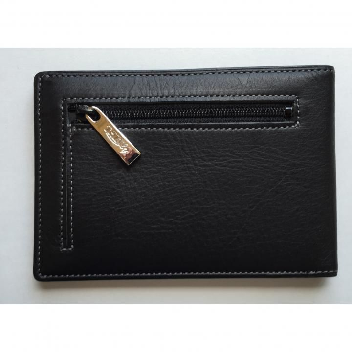 カードをたくさん入れても薄い財布(小銭入れ付き)BS04 ブラック_0