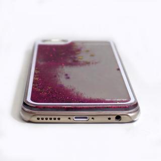 【iPhone6ケース】ウォーターラメケース レッド iPhone 6_3