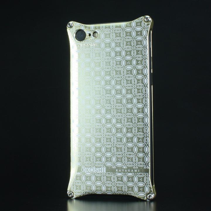 iPhone7 ケース OKOSHI-KATAGAMI ギルドデザイン コラボケース 七宝 シャンパンゴールド iPhone 7_0