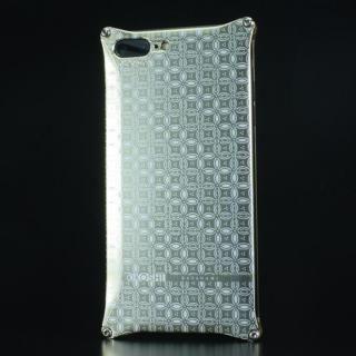iPhone7 Plus ケース OKOSHI-KATAGAMI ギルドデザイン コラボケース 七宝 シャンパンゴールド iPhone 7 Plus