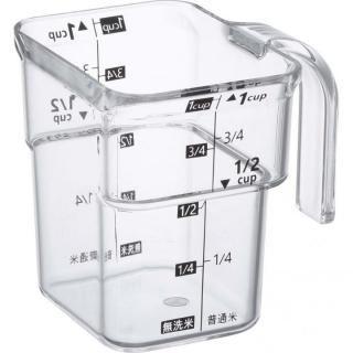 段ー米計量カップ レイヤー ブラック