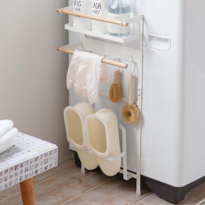 洗濯機横マグネット収納ラック トスカ ホワイト