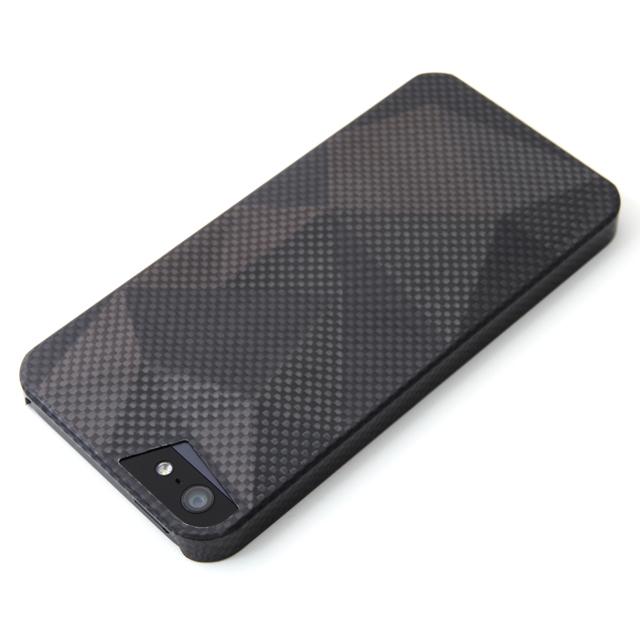 iPhone SE/5s/5 ケース 重さわずか7g リアルカーボンファイバーケース  iPhone 5s/5 Delta ブラック_0