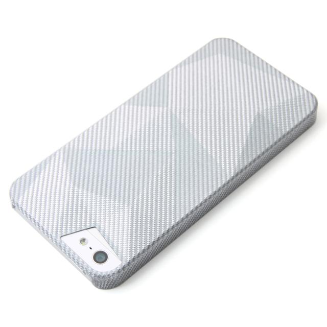軽い(7g)リアルカーボンファイバーケース for iPhone 5/5s Delta シルバー 送料無料