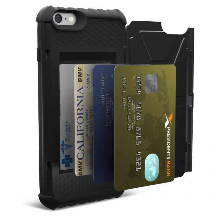 UAG 耐衝撃カード収納ケース ブラック iPhone 6s Plus/6 Plus