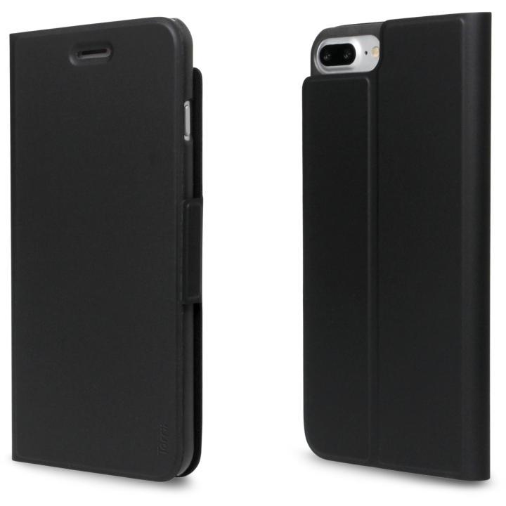 超薄型手帳型PUレザーケース TORRIO ブラック iPhone 7 Plus