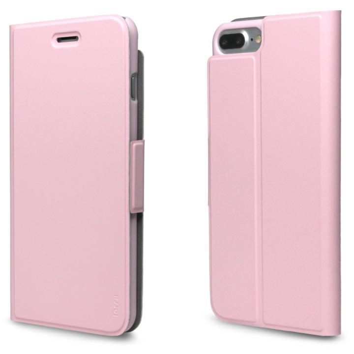 iPhone7 Plus ケース 超薄型手帳型PUレザーケース TORRIO ピンク iPhone 7 Plus_0